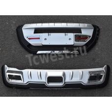 Накладки на передний и задний бампер для SUZUKI VITARA 2015-2018г.