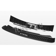 "Накладки на порог багажника и задний бампер ""Черный титан"" NISSAN X-TRAIL 2017-2019г."